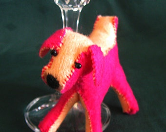 A felt dog called Debbi - a feltie terrier miniature