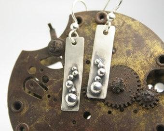 Silver Dangle Earrings - Contemporary
