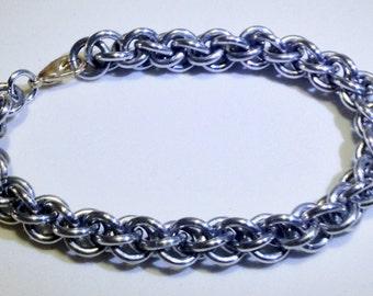 Jens Pind Chainmaille bracelet, bright aluminum