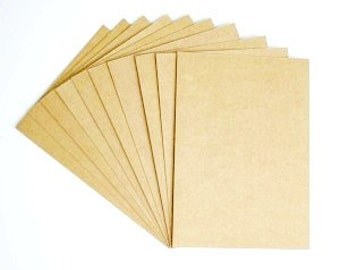 Set of kraft cardboard A4 or A5 for scrapbooking