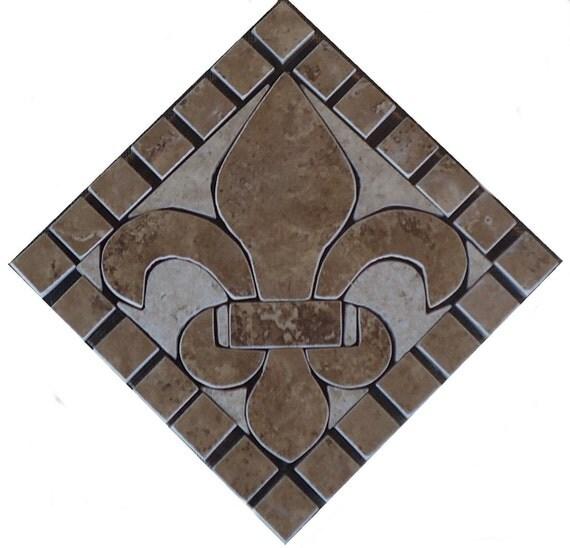 Charro Porcelain Tile Deco Fleur Dis Lis Mosaic Medallion