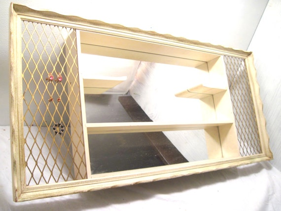 Mirror Shadow Boxturner Antique White Shabby Boho