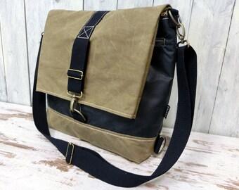 Messenger Bag, waxed cotton