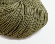 10mtrs Olive Green Waxed Polyester Cord 1mm