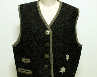 70's vintage wool vest made in Austria_Size40