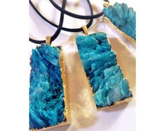 Druzy Blue Pendants