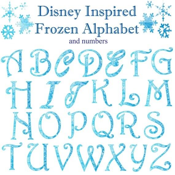 frozen winter christmas snowflake alphabet numbers clipart. Black Bedroom Furniture Sets. Home Design Ideas