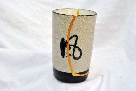 Aztec White Kintsugi Cup Mended with Gold Seams