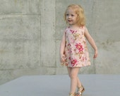 Baby Girls Pinafore Dress in Pink Posies