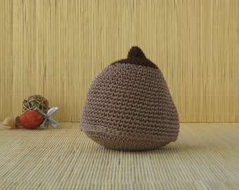 Brown Cotton Crochet Boob, Handmade Crochet Breast, Antenatal Teaching Aid, Breast-feeding Aid, IBLC Teaching Model, Midwife Gift