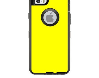 Skin Decal Wrap for OtterBox Defender/Commuter/Universe Apple iPhone 7 7+ 6 6+ 5C 5/5S Case Vinyl Cover Sticker Skins Solid Yellow