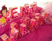 3D Acrylic Fillable Letters for Candy Buffet Wedding decoration Quinceanera Baby Shower