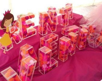 popular items for quinceanera decor on etsy With 3d acrylic fillable letters