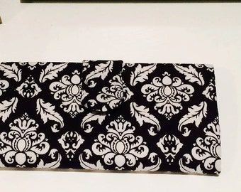 Handmade Damascas Wallet Black and white