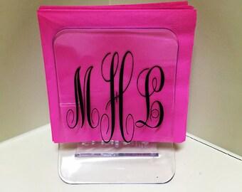 Personalized Acrylic Napkin Holder