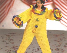 "Crochet Pattern for 11.5"" Fashion Doll Clown Costume"