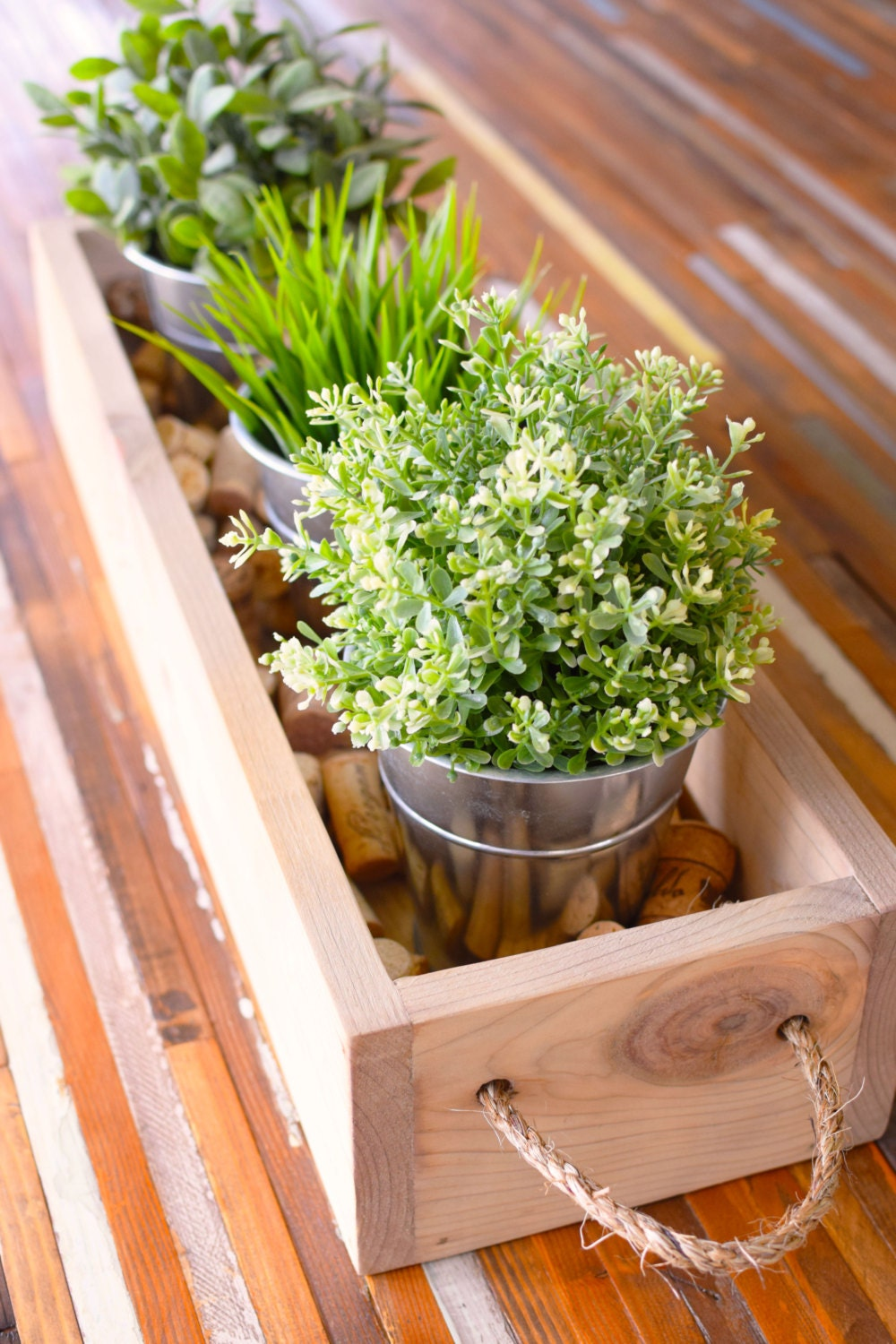 Rustic Flower Box Table Centerpiece Wooden Box By Bourbonmoth