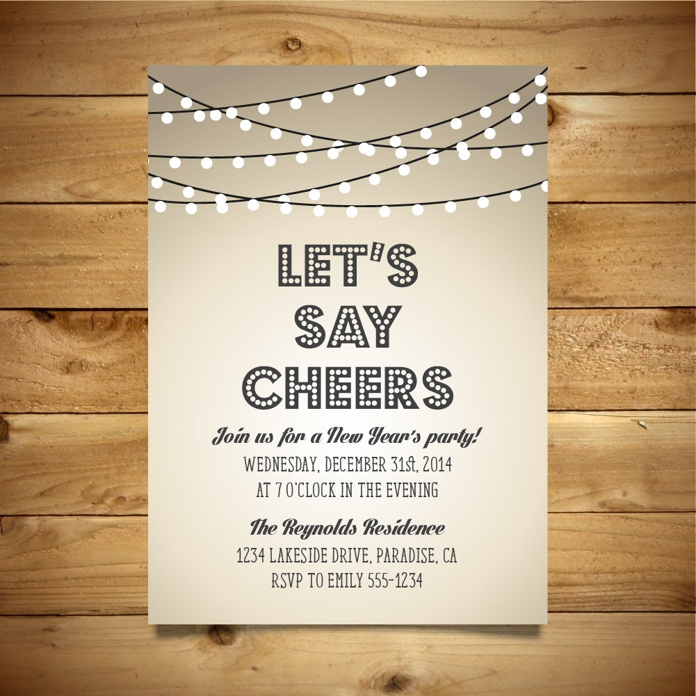 printable new year 39 s party invitation vintage style. Black Bedroom Furniture Sets. Home Design Ideas