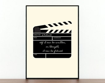 Stanley Kubrick, Film Poster, Clapperboard, Famous Director, Film Quote, Movie Quotes, Filming, Typography, Inspirational Quote, Cinema