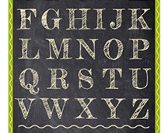 This alphabet and numbers poster measures 8 x 10.