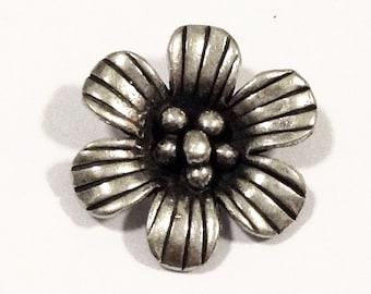 Thai Karen Hill tribe silver Tribal Flower pendant.