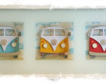 Items Similar To VW Camper Van Bus Bedroom Vinyl Sticker