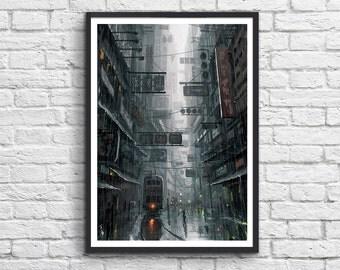Poster Hong Kong in the dark