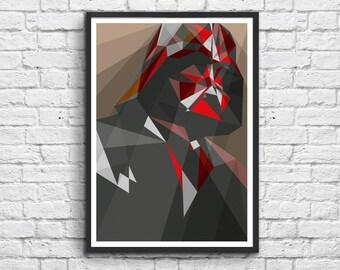 Art-Poster 50 x 70 cm - Dark Vador - Liam Brazier