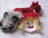 Red Riding Hood and the wolf  mittens, Christmas gift for baby, Hand knitted mittens, gloves - montessori toy,gloves - fairy-tale characters