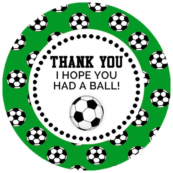 Printable Soccer Party Favor Tags / Stickers