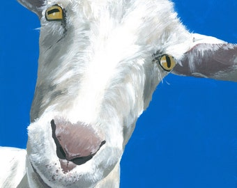"""Goat Print Instant Download """"Alfred"""""""