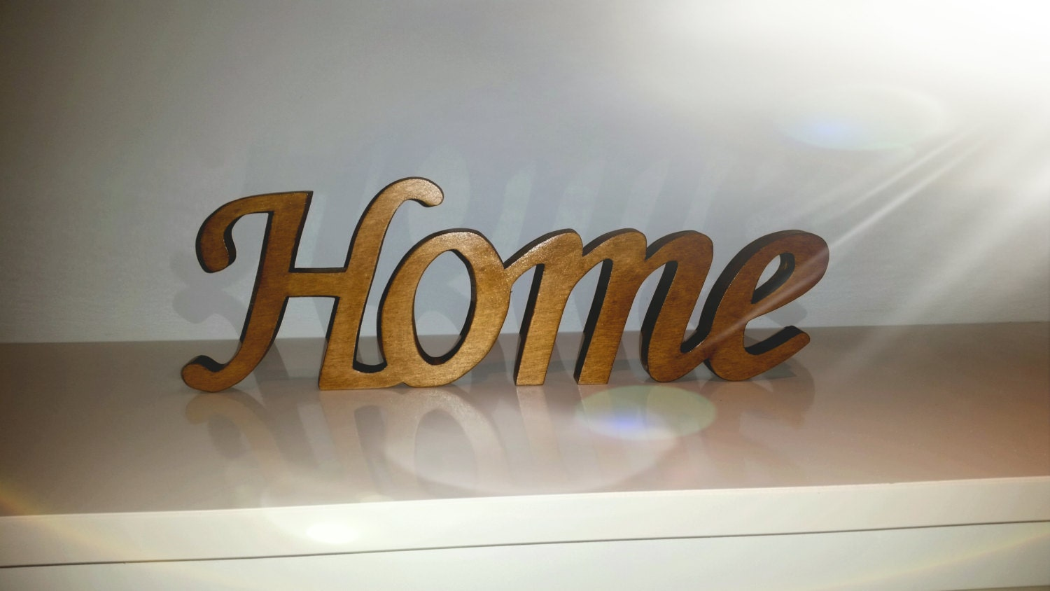 Wood Word Sign Home Decorative Script Word Freestanding word