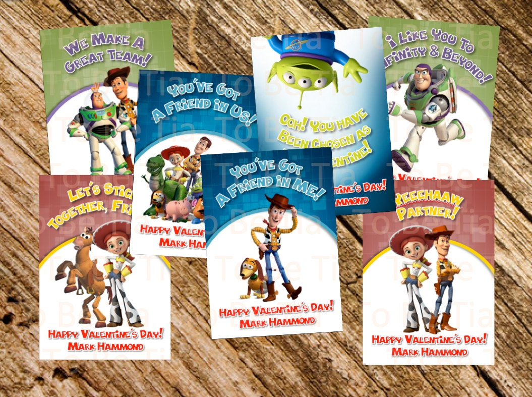 Valentine S Day Toy Prizes : Toy story valentine s day cards for kids
