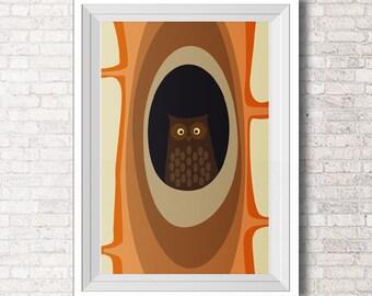 Owls prints - Modern Nursery - Art For Kids Room - Wall Art  - Children Art -  Kids Room Art - Babyshower gift