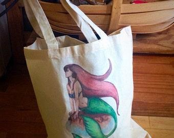 Mermaid Cotton Shopper Bag