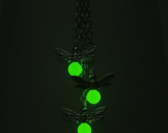 "Your choice - ""Dance of the Fireflies"" glow in the dark dangle earrings"