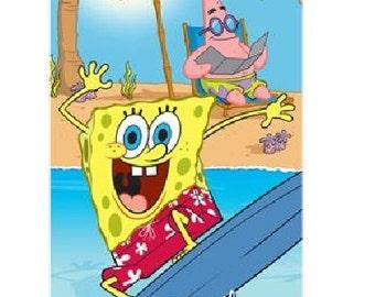 SpongeBob 'Boys of Summer' Beach Towel - Personalized Beach Towel