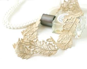 Bridal sash, Bridesmaid gift, Laurel Soft Gold leaf leaves sash, leaves sash, gorgeous sash, Wedding party belt, Wedding sash,