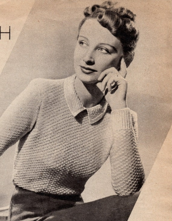 Wartime Knitting Patterns : 1940s Weldons Spring and Summer Knitteds PDF - Vintage Wartime Knit...