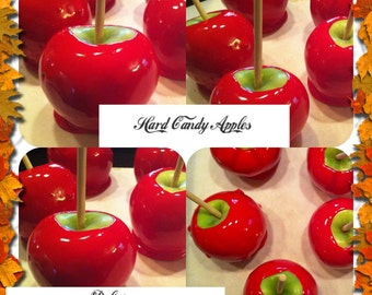 12 Hard Candy Apples, Red Candy Apples, Candy Apple