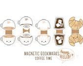 Magnetic Bookmarks • Coffee Time