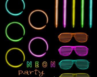 Bright 80s Sunglasses Clip Art