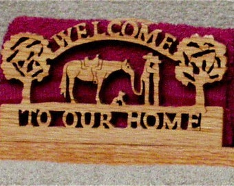 Welcome Cowboy & Cowgirl  Napkin Holder
