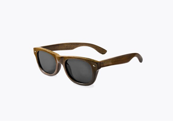 5c809a428f Handmade Wood Wayfarer Style Sunglasses