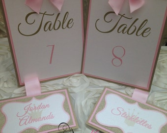 Pink and Gold Candy Buffet Labels