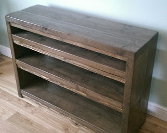 Hand Made Rustic Shelving Unit - Solid Wood in Various Sizes 053