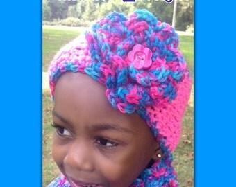 Crochet Toddler Earwarmer, Girl Earwarmer