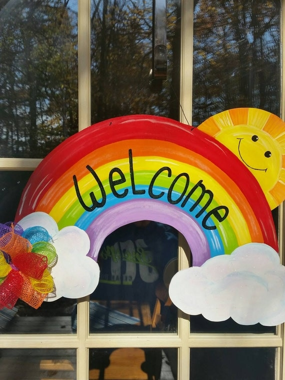 Classroom Decoration Rainbow ~ Rainbow door decor summer hanger back to school by