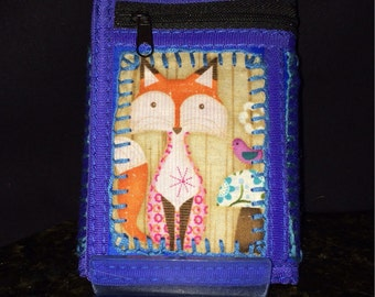 Woodland Creature Blue Multi Pocketed Purse Wallet