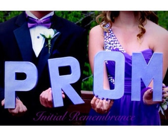 Prom prop hand painted Letters Decoration for prom photos 2015 Will you go to Prom with me Prop